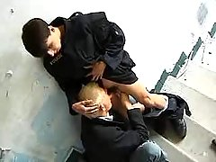 Policeman makes gentleman to oral sex his dong