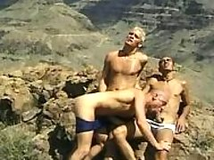 Gang of gay guys in moutains