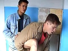 Homo fucking his alluring boy-friend and jizzing his butt