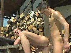 Raw village boys sex enjoy crazy on farm yard