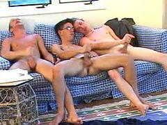 Six naughty gay guys having a useful time of love
