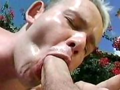 Handsome gay guys in anal act