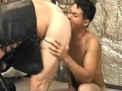 Asian twink slut number one sucks off then benefits from hammered