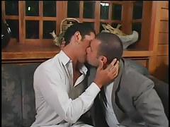 Husky gay men smoking in hotel in 1 video