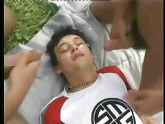 Hard bareback fruit anal sex in a field in 6 episode