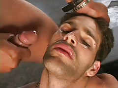 Horny guys gangbanging stud in hot orgy in 7 motion picture