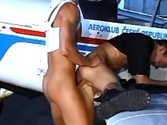 Gay pilots having anal getting pleasure by plane