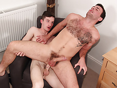 Riley Rides A Big Uncut One - Daniel Scott And Riley Tess