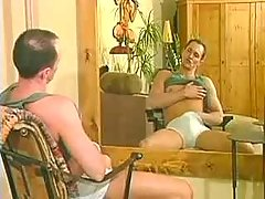 Studly boy pleasant care of his fellows cock and hole