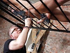 Draining A Slave Dick-holders Cock - Reece Bentley And Sebastian Kane