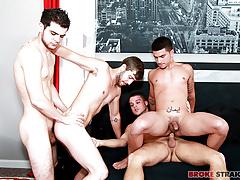Gangbang w Vadim, Brandon, Zeno, Blake