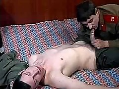 Army gentleman seduces and digs boy-friend