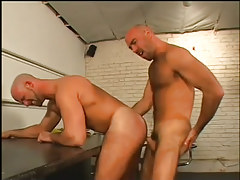 Two truckers fuck during lunch in 3 movie