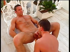 Sexy faggot males end up overspread in dick water in 4 motion picture