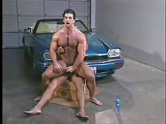 Gay muscle studs have damp anal in garage in 6 episode