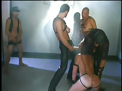 Gay dungeon sex scene with leather in 2 episode