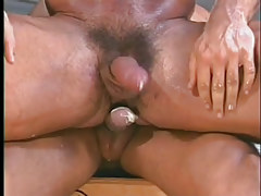 Gay muscle studs have perspired anal in garage in 7 episode
