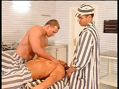 Prison boss orders kitchen boys to fuck in 1 movie