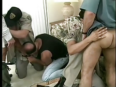 Hot gay policemen uniform porn massive orgy in 6 episode