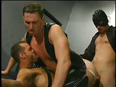 Leather clad fellows having gay sex in 5 episode