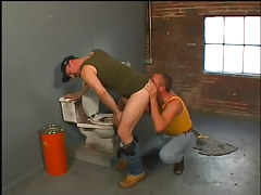 Janitor sucks and fucks a redneck in 1 video