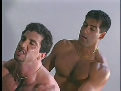Gay muscle studs have moist anal in garage in 4 episode