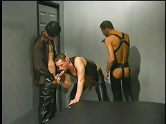 Leather clad champs having homosexual banging in 1 episode