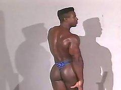 Narrow black ass plugged real massive