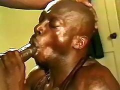 Black gay guy taking cool anal reaming