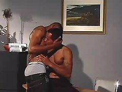 Nasty black man-lovers ass-hammering heavily