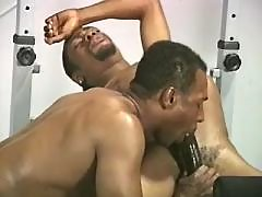 Murky gay slut serving hungry hunk