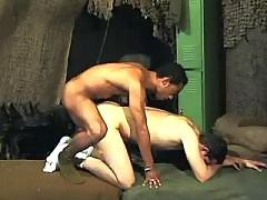 Passionate ebony homosexual gets stuffed heavily