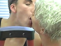 Three insane twinks lick and sucks in gym