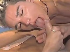 Gay benefits from cum and jizzes in gullet