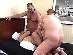 Chubby bear twinks engulf and fuck tight holes