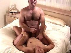 Depraved bear gay meets shy gay boy