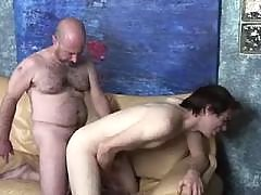 Insatiable bear requires gay guy meat