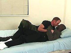 Ebony man pounds hungry homosexual bitch