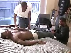 Handsome black studs want group sex
