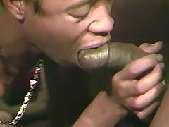 Gay stuffs dick in stiff black hole