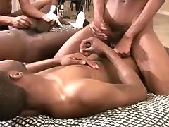 Fleshy black dick-holders rather groupsex
