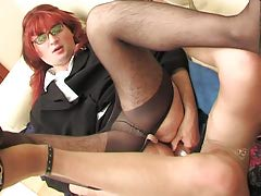 Redhead feminized male guy with his fruit co-worker getting the only about all from dildotoying
