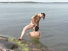Gay jaws hard cock in nature
