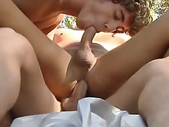 Freshman gays penetrate in all holes outdoor