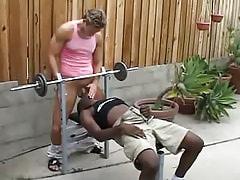 Ebony homo gullets appetizing 10-Pounder outdoor