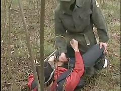 Rogue homosexual guys jerk in cooperation in nature