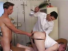 Dirty man-lovers smack and dildofuck males ass