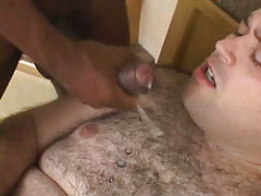 Lusty hairy dude attains hot cumload