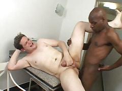 Ebony homosexual screws tight chaps asshole