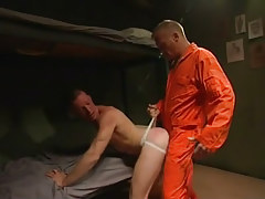 Lewd prisoner drills young guy